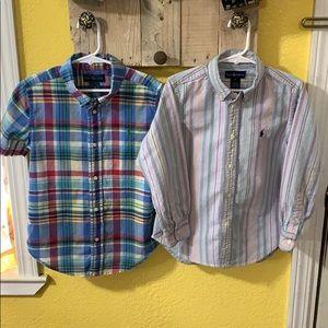 Ralph Lauren Boys Button Up Shirt Bundle